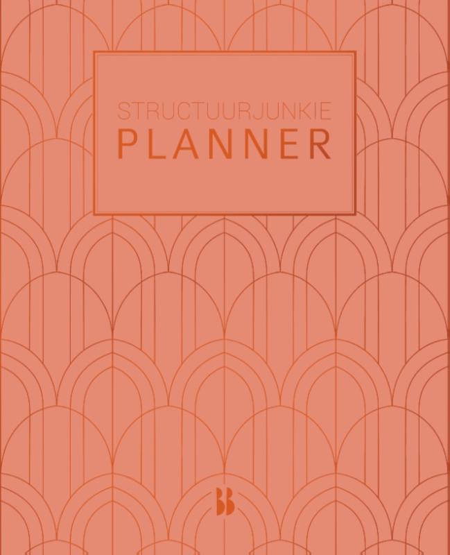 Structuurjunkie planner (klein) - perzik