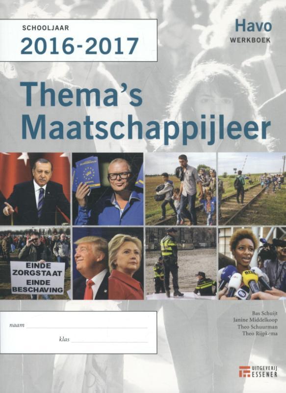 Thema's Maatschappijleer voor HAVO 2016-2017 werkboek