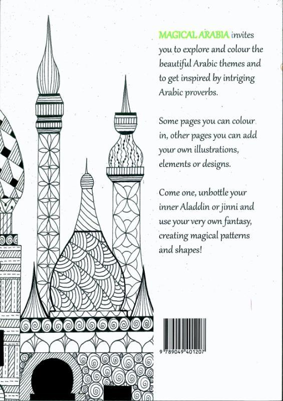 Tekenen Schilderen Kalligrafie Magical Arabia Colouring Book