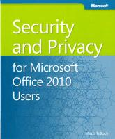 Security and Privacy for Microsoft Office 2010 Users