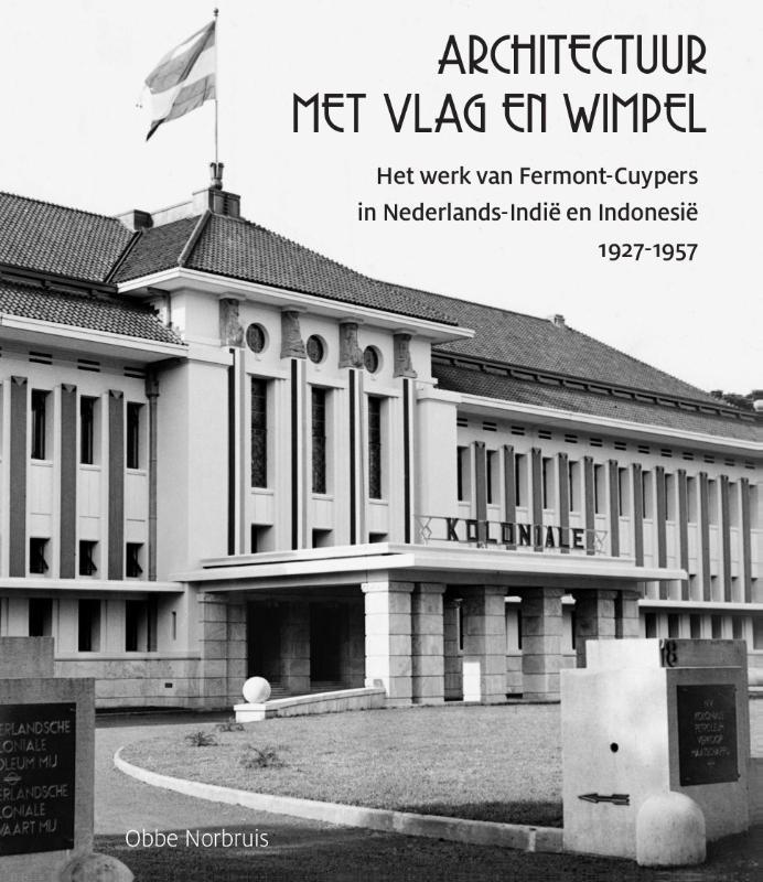Architectuur met vlag en wimpel