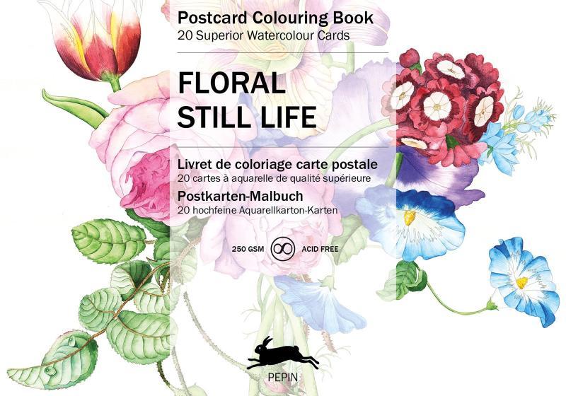 FLORAL STILL LIFE - POSTCARD COLOURING BOOK