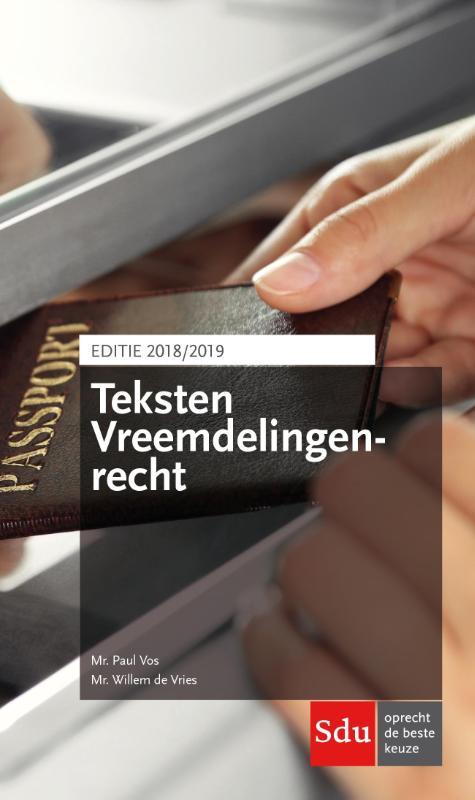 Teksten Vreemdelingenrecht. Editie 2018-2019
