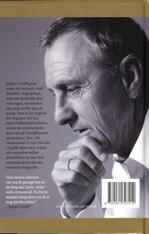 Citaten Johan Cruijff : Boek johan cruijff uitspraken