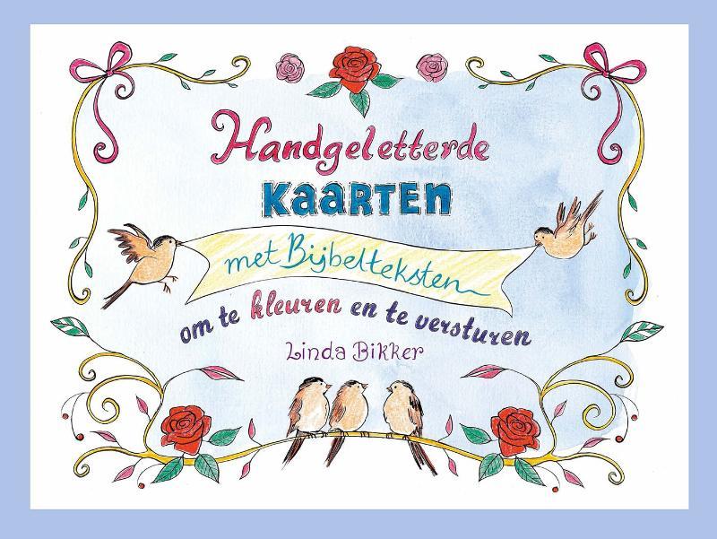 Handgeletterde kaarten met Bijbelteksten om te kleuren en te versturen