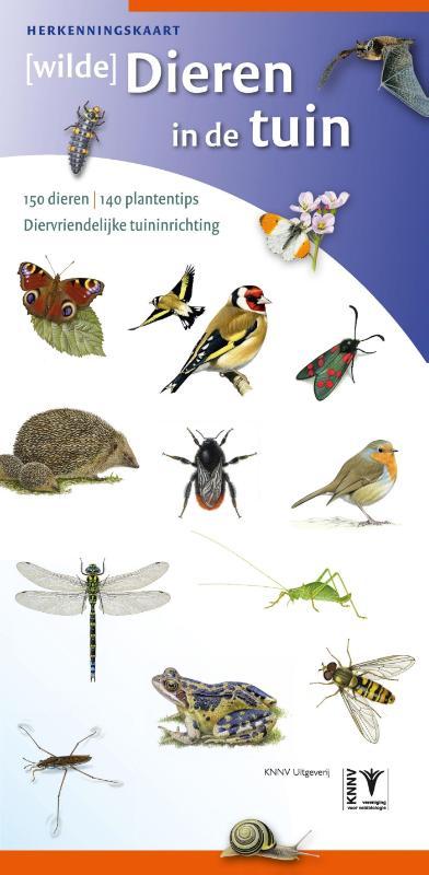 Herkenningskaart [wilde] Dieren in de tuin - natuurgids diervriendelijk tuinieren