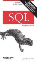 SQL Pocket Guide 3e