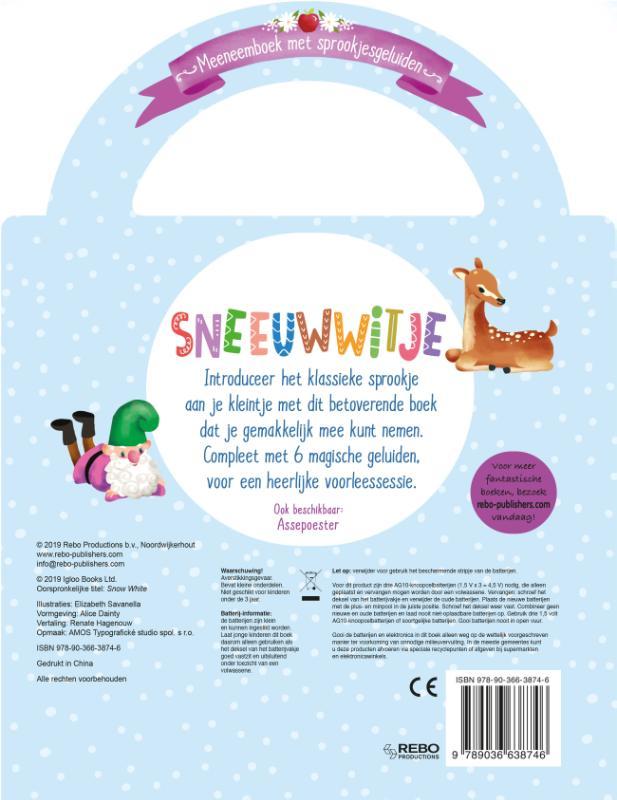 Sneeuwwitje-Meeneemboek met sprookjesgeluiden