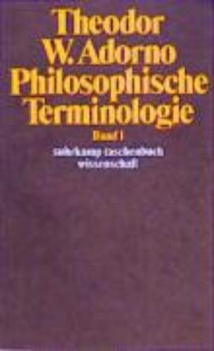 Philosophische Terminologie I