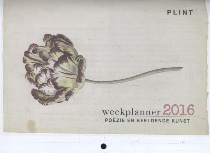 Plint Poëzie en beeldende kunst weekplanner 2016 4131