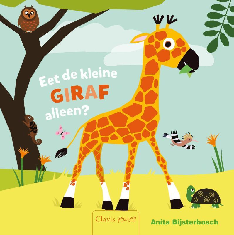 Eet kleine giraf alleen?