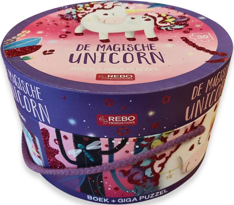 De magische unicorn - boek + giga puzzel