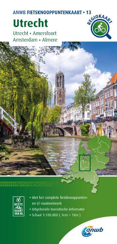 Fietsknooppuntenkaart Utrecht 1:100.000