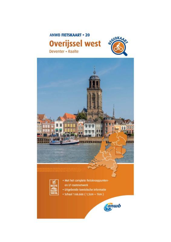 Fietskaart Overijssel west 1:66.666