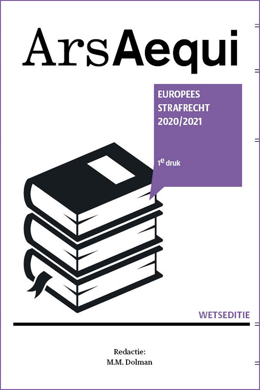 Ars Aequi Wetseditie Europees Strafrecht