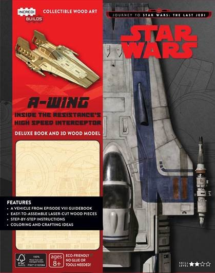 Star Wars A-wing Deluxe Book met houten model A- wing, bouw je eigen A wing en andere wetenswaardigheden over Star Wars