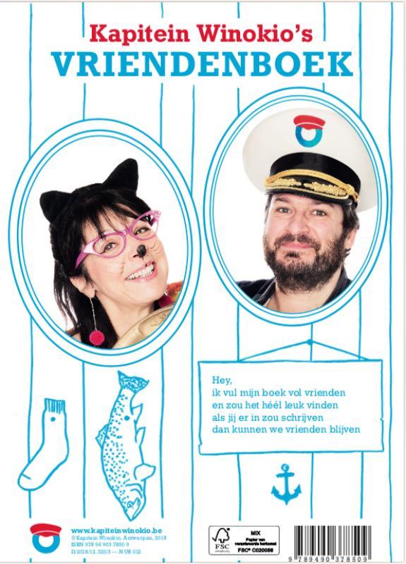 Kapitein Winokio - Vriendenboek