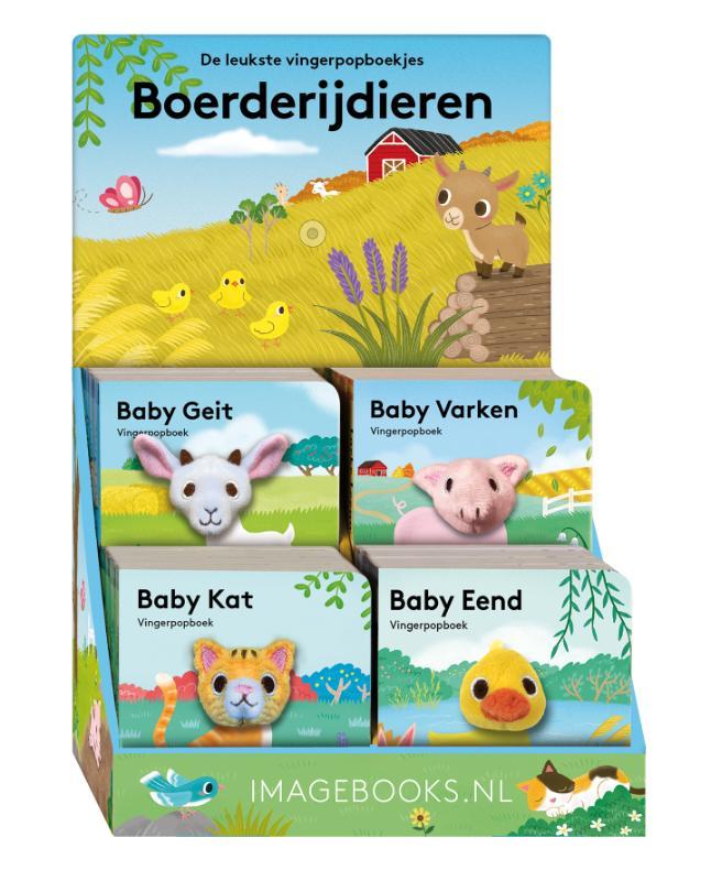 Display Boerderijdieren 4T x 4 ex (Baby Kat, Geit, Varken, Eend)